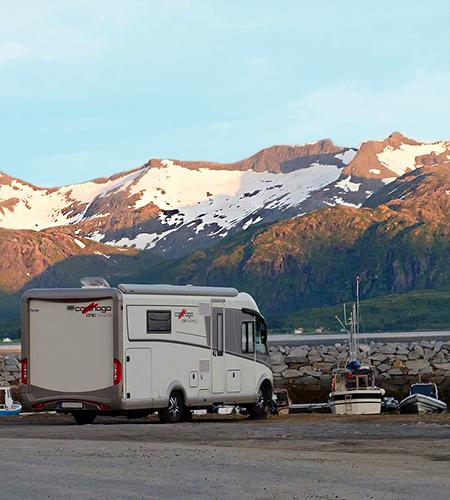 Flott utsikt fra Skaland Camping